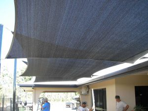 Overlapping Shade Sail
